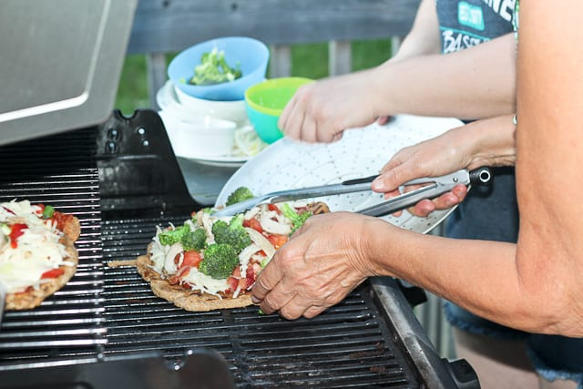 Pizza going on the BBQ