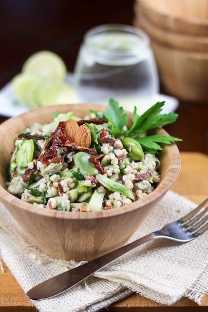 Creamy Buckwheat and Fava Bean Salad