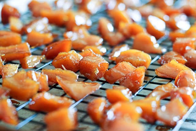 Sweet Grilled Peaches With Homemade Candied Ginger Ice ...
