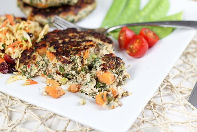 Chicken Kale and Sweet Potato Patties