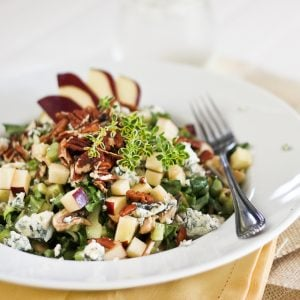 Collard Greens, Blue Cheese and Apple Salad