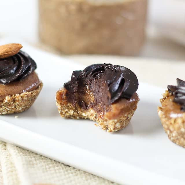 Teeny Weeny Healthy Chocolate, Ginger and Almond Butter Layered Cups