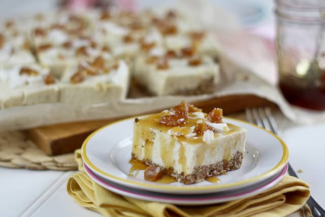 No Bake Ginger Cheesecake Bars