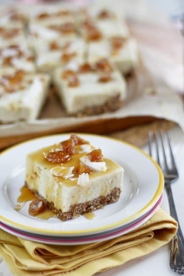 No-Bake High Protein Candied Ginger Cheesecake Bars [Oh ...