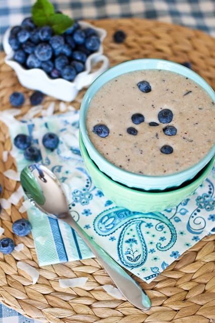 ... on track... and Blueberry Pancake Batter Smoothie - The Healthy Foodie