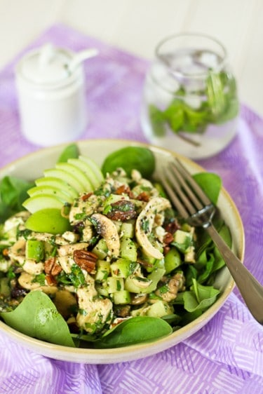 Chicken Green Apple and Feta Cheese Salad