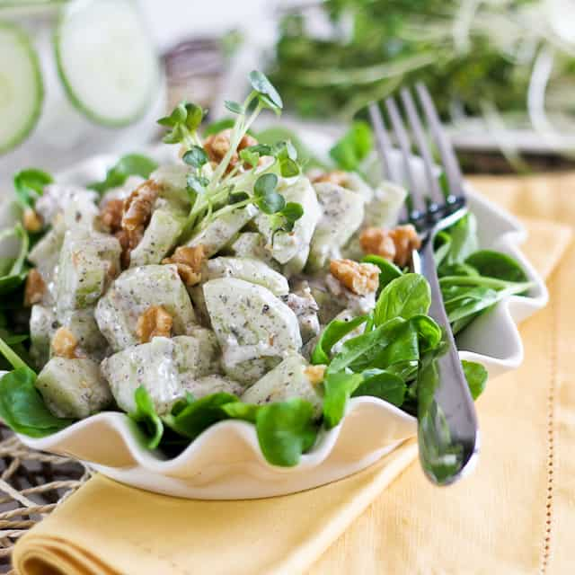 Lean Mean Green Pea Salad (and Creamy Cucumber Dressing) Recipes ...