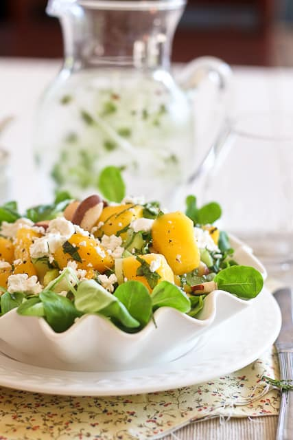Mango, Celery and Goat Cheese Salad