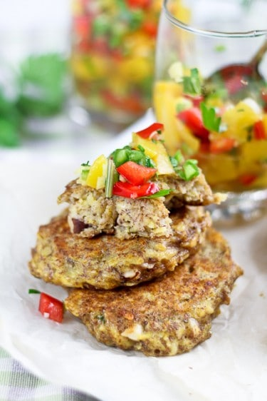 Plantain Fritters with a Spicy Sweet & Sour Peach and Bell ...