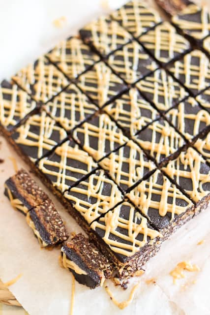 Triple Decker Peanut Butter Squares | by Sonia! The Healthy Foodie