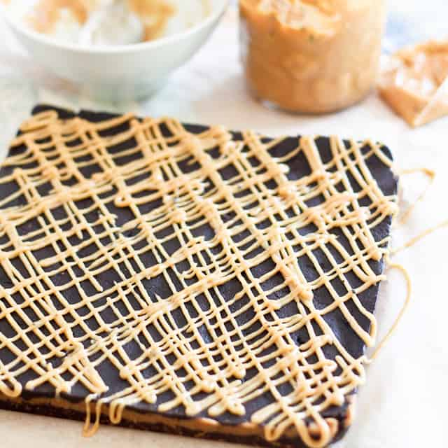 Triple Decker Peanut Butter Squares • The Healthy Foodie