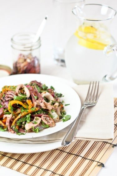 Calamari and Pickled Onion Salad | by Sonia! The Healthy Foodie