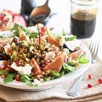 Fresh Fig and Goat Cheese Salad with Pomegranate Agrodolce