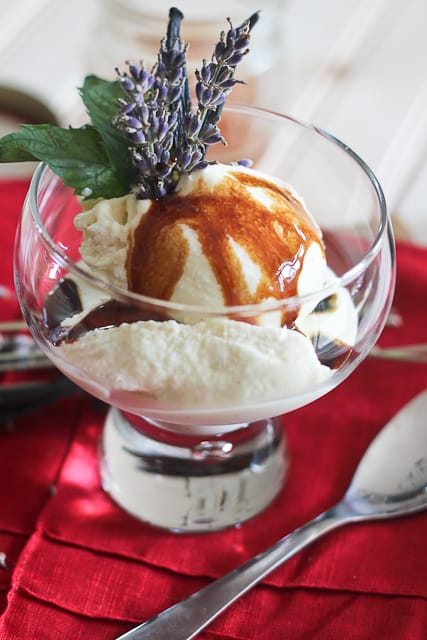 Goat Cheese Honey Lavender Ice Cream   by Sonia! The Healthy Foodie