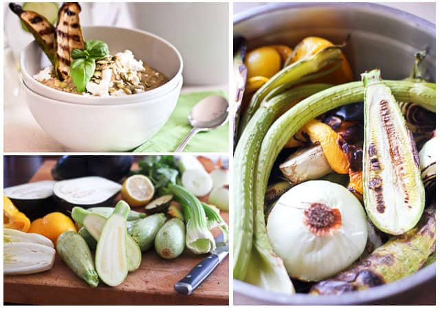 Cold Grilled Vegetable Soup • The Healthy Foodie