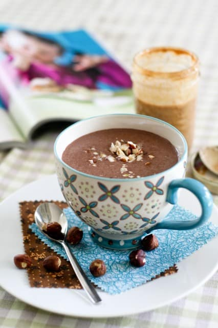 Chocolate Hazelnut Smoothie | by Sonia! The Healthy Foodie