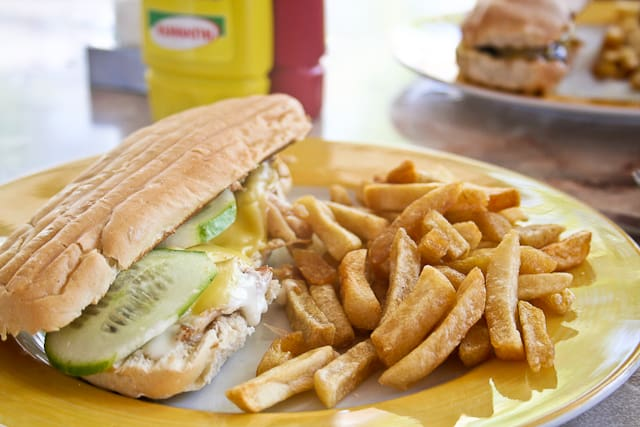 Chicken Baguette and Fries | Snack Bar - Playa Blanca Hotel - Cayo Largo