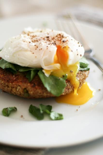 Quinoa Cakes and Poached Egg | by Sonia! The Healthy Foodie