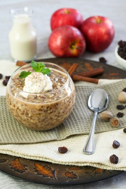Raisin Cinnamon Wheat Berry Overnight Oats | by Sonia! The Healthy Foodie