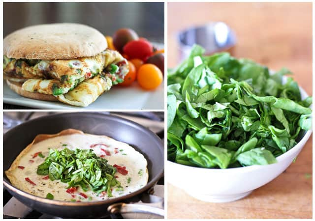 Spinach and Sun Dried Tomatoes Omelet Sandwich | by Sonia! The Healthy ...