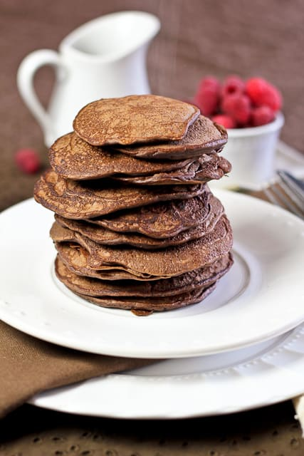 Best Darn Chocolate Pancakes Ever | by Sonia! The Healthy Foodie