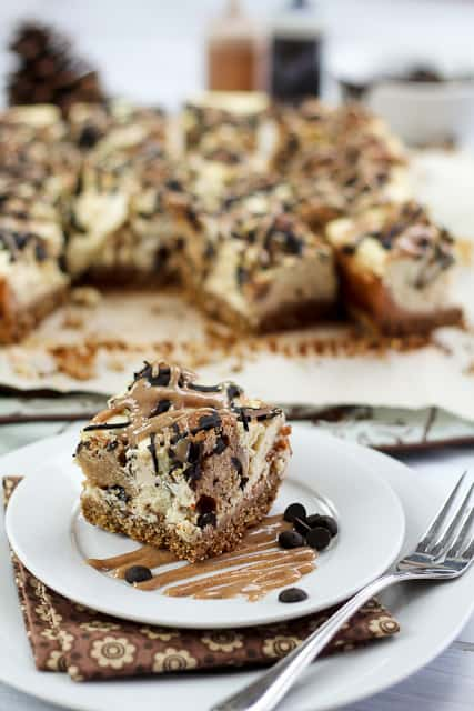Healthy Chocolate Chip Cookie Dough Cheesecake Bars | by Sonia! The Healthy Foodie