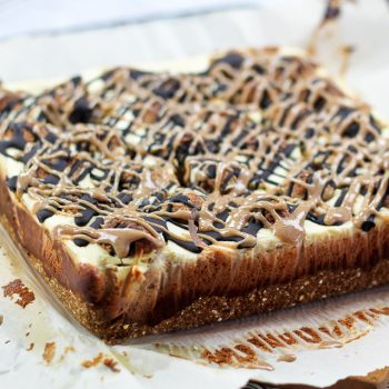 It's a Blogiversary! Let's celebrate with some Chocolate Chip Cookie Dough Cheesecake Bars