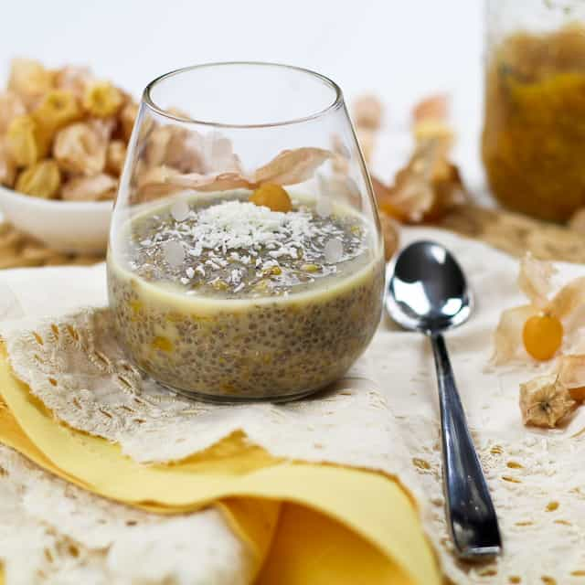 Ground Cherries & Wheat Berries Overnight Chia Seed Pudding | by Sonia! The Healthy Foodie