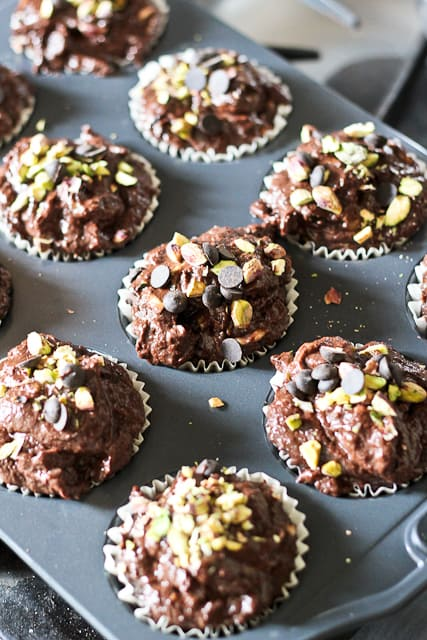 Pumpkin Zucchini Dark Chocolate Muffins | by Sonia! The Healthy Foodie