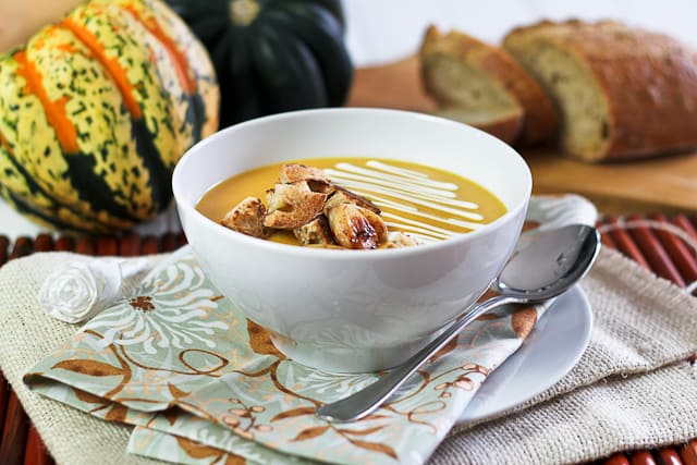 Roasted Squash and Bell Pepper Potage | by Sonia! The Healthy Foodie