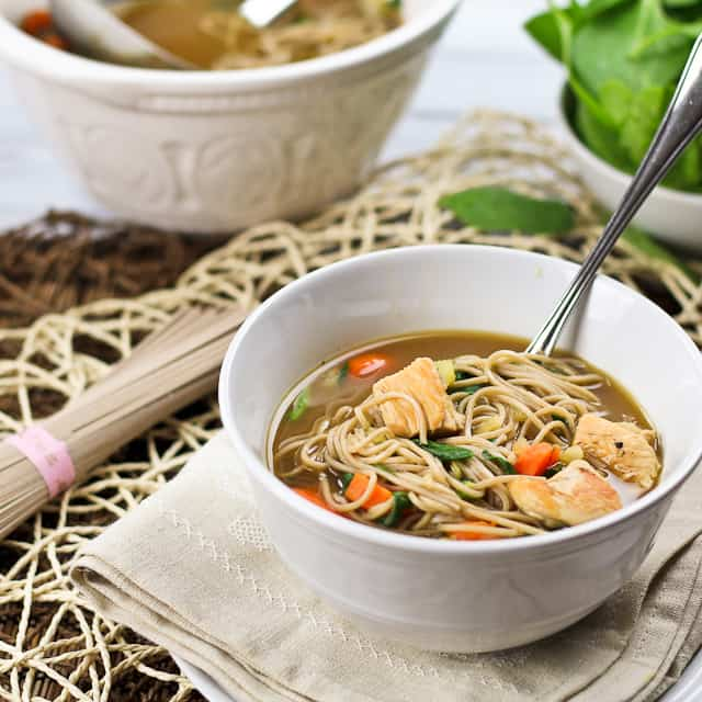 Clean Eating Turkey Soba Noodle Soup