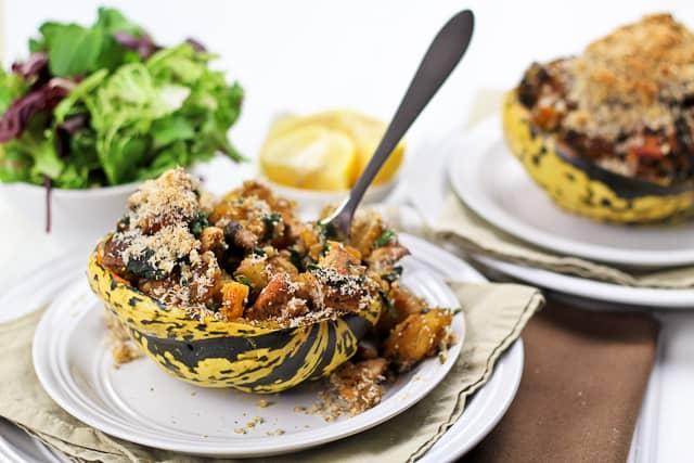 Turkey Stuffed Carnival Squash | by Sonia! The Healthy Foodie