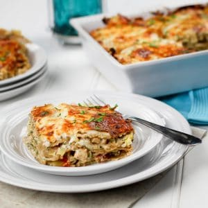 Cheesy Chicken and Artichoke Lasagna | by Sonia! The Healthy Foodie