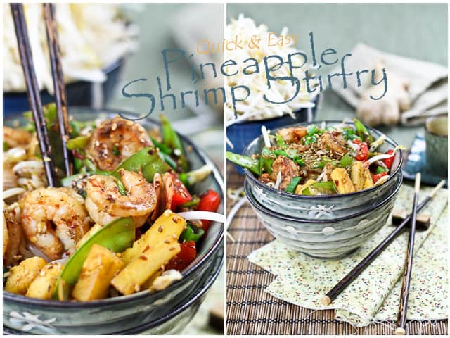 Quick and Easy Pineapple Shrimp Stirfry | by Sonia! The Healthy Foodie