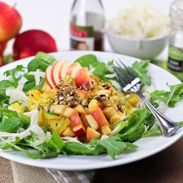 Spaghetti Squash, Shaved Fennel and Warm Apple Salad • The Healthy ...