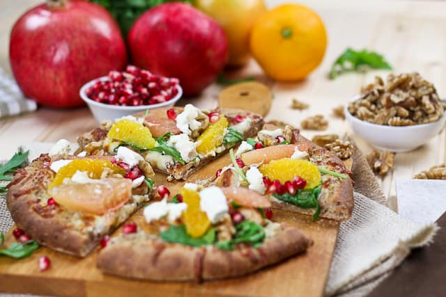 Citrus, Chicken and Goat Cheese Pizza • The Healthy Foodie
