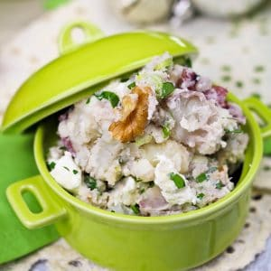 Deliciously Warm & Creamy Smashed Potato Salad