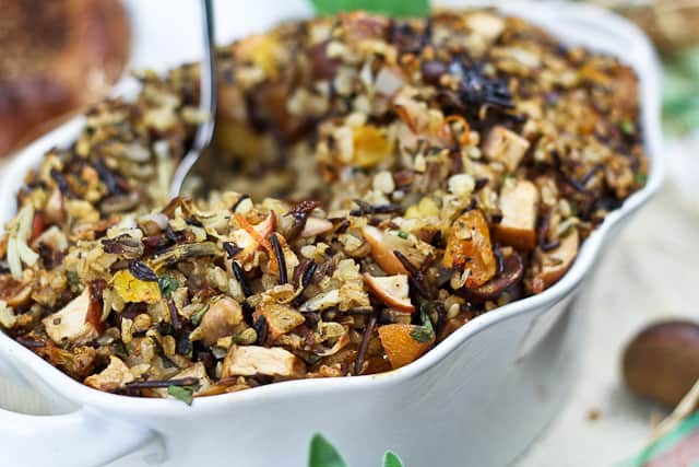 Brown and Wild Rice Turkey Stuffing | by Sonia! The Healthy Foodie
