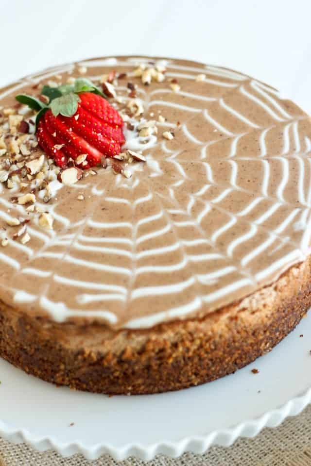 ... Chestnut and Hazelnut Cheesecake… or what I had for breakfast this