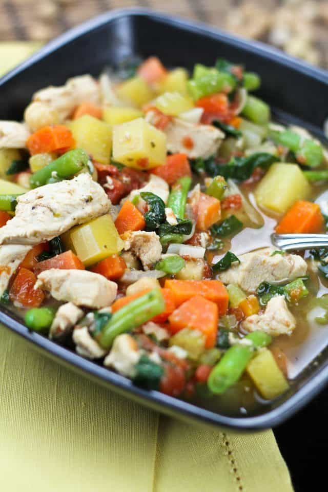 Bone Warming Chicken Vegetable Soup | by Sonia! The Healthy Foodie