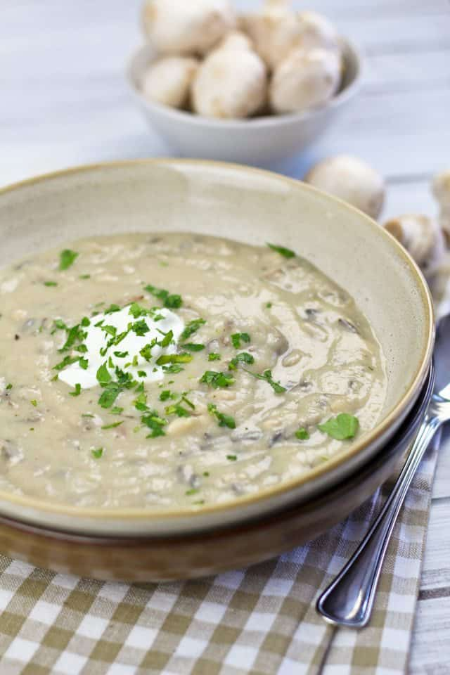 Cream of Mushroom and Wild Rice Soup | by Sonia! The Healthy Foodie