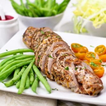Pan Seared Orange & Rosemary Pork Tenderloin