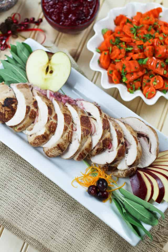 Apple, Cranberry and Goat Cheese Stuffed Turkey Breast | by Sonia! The Healthy Foodie