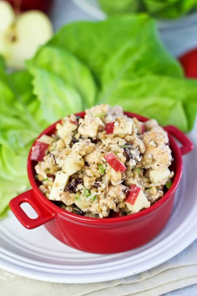 Ground Chicken Apple and Bulgur Lettuce Wraps   by Sonia! The Healthy Foodie