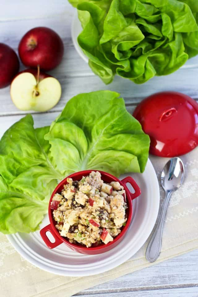 Ground Chicken Apple and Bulgur Lettuce Wraps | by Sonia! The Healthy Foodie