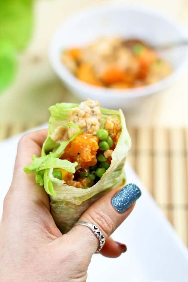 Ground Chicken Butternut Squash Lettuce Wraps | by Sonia! The Healthy Foodie