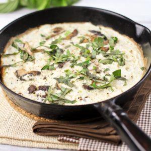 Mushroom Overload Egg White Omelet