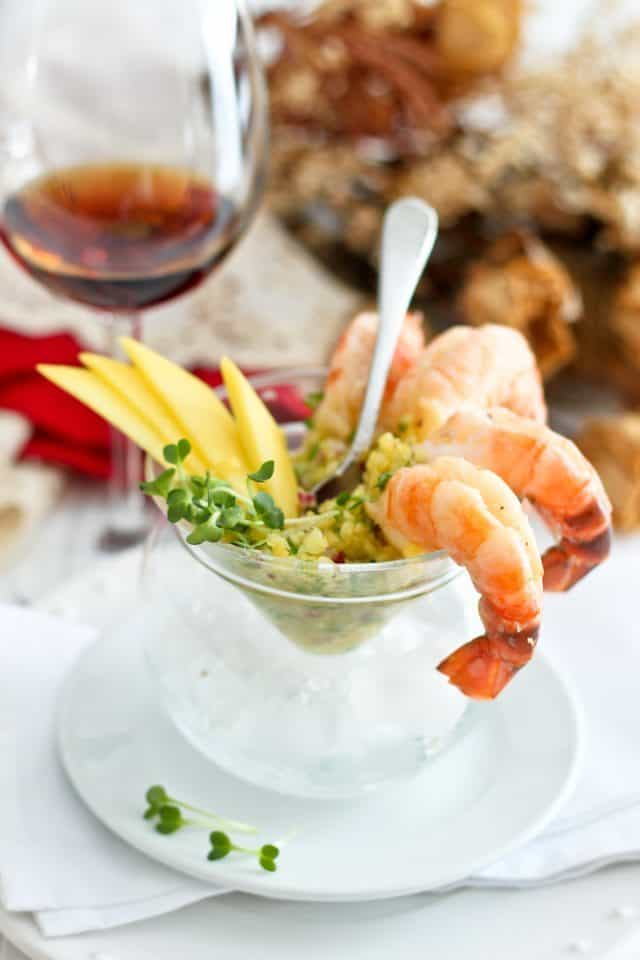 Shrimp Cocktail with Mango Salsa | by Sonia! The Healthy Foodie