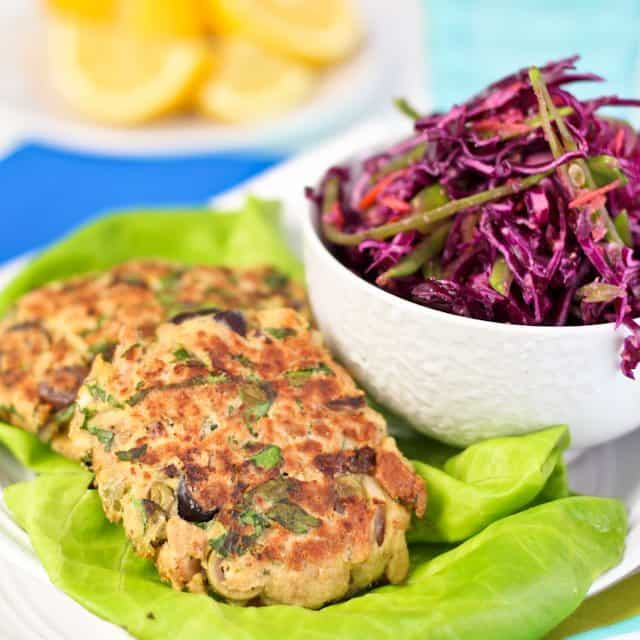 tuna fish patties and quick coleslaw the healthy foodie