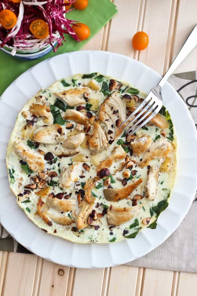 Apple Chicken Egg White Omelet | by Sonia! The Healthy Foodie